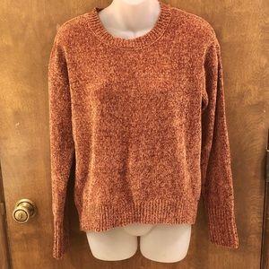 Burnt orange chenille sweater. Size XL NWT